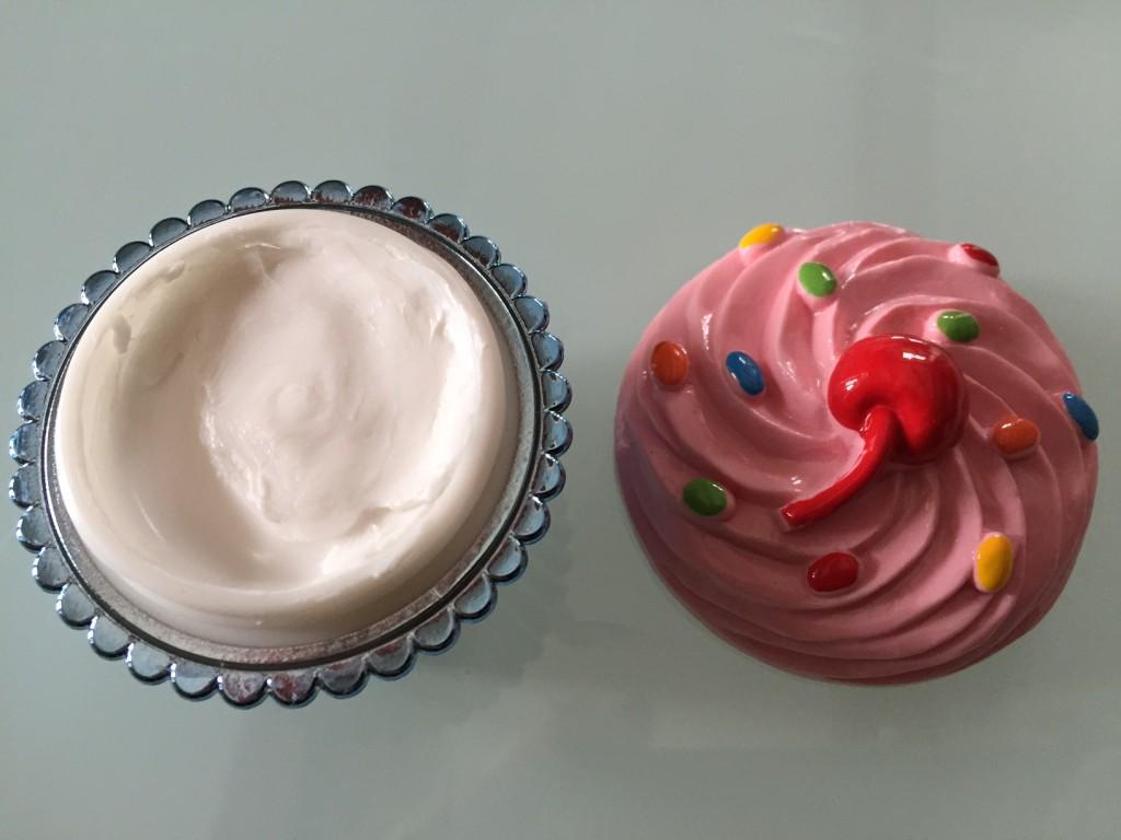 cherry hand cream cupcake