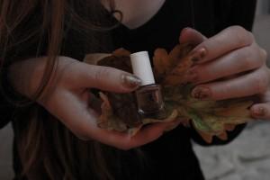 nail-art aux couleurs de l'automne