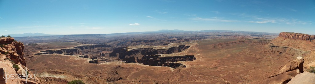 Canyonlands grand view point overlook